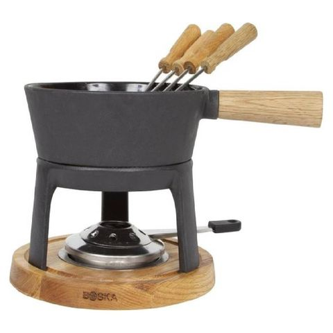 fondueset pro boska cadeautip geschikt voor het gasfornuis en een elektrische keramische en inductiekookplaat