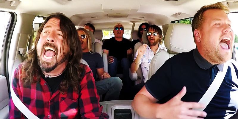 Foo Fighters se sintieron incómodos en el programa Carpool Karaoke