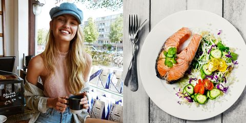 Dish, Food, Smoked salmon, Cuisine, Meal, Salmon, Junk food, Brunch, Fast food, Salmon,