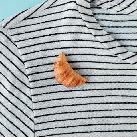food gifts croissant pin