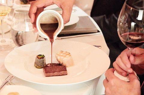 Eric Ripert's Grilled Hawaiian Walu and Seared Wagyu Beef