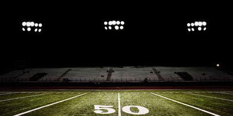 Dark football field