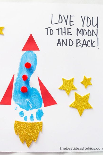 Footprint Rocket - Free Father's Day Cards