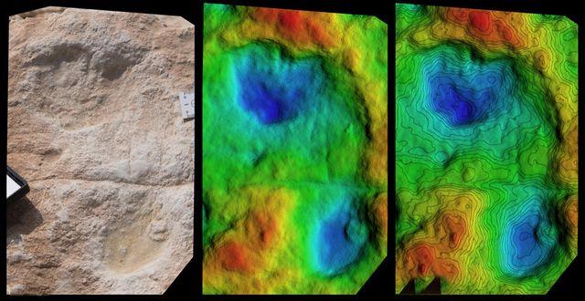 old human footprints