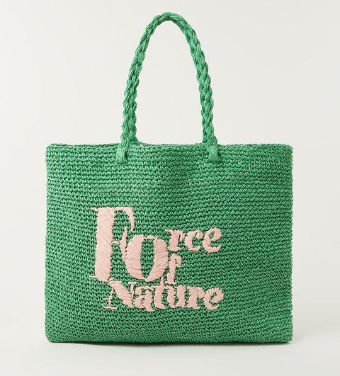 force of nature gevlochten shopper groene raffia van claudie perlot via de bijenkorf