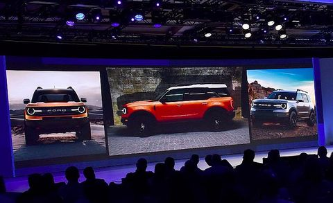 Ford Baby Bronco Crossover Shown In Dealer Presentation Image