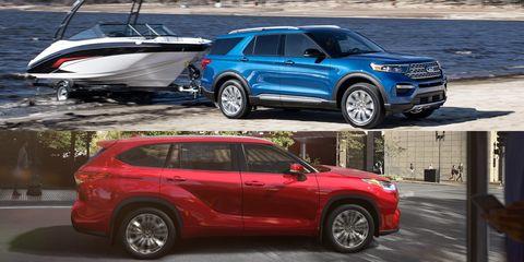 2020 Ford Explorer and Toyota Highlander Hybrids Duke It Out over MPG, Capability