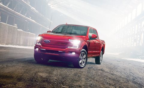 An All Electric Ford F 150 Pickup Truck Is Hening