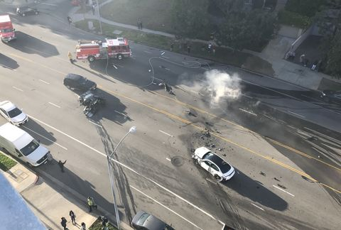 ford gt crash in los angeles