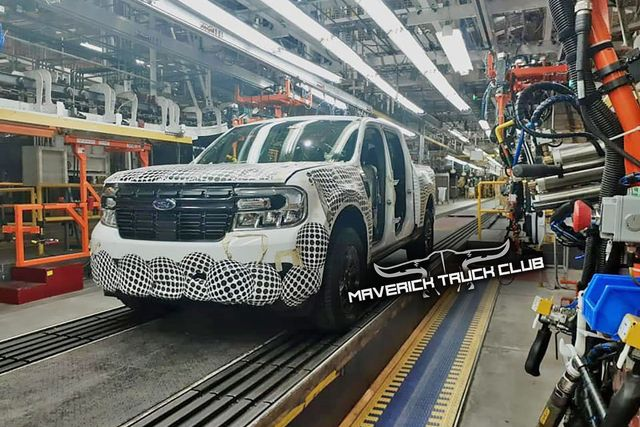 ford maverick leaked production shot