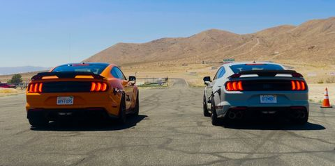 ford mustang mach 1 vs shelby gt500 drag race