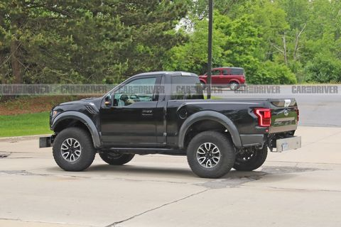 Weird Single Cab Ford F 150 Raptor Mule Spied Probably