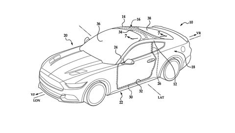 Huge Ford Mustang Windshield Patent