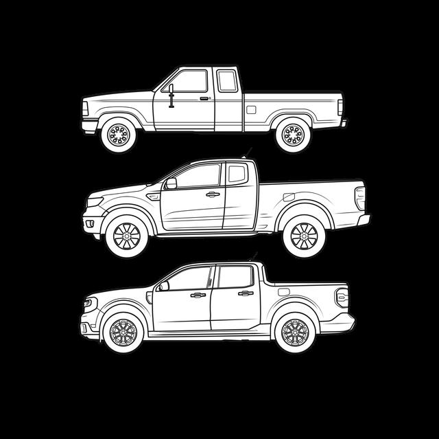 ford maverick vs ranger size