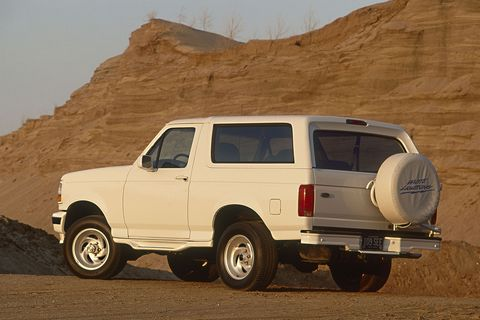 ford bronco white lightning