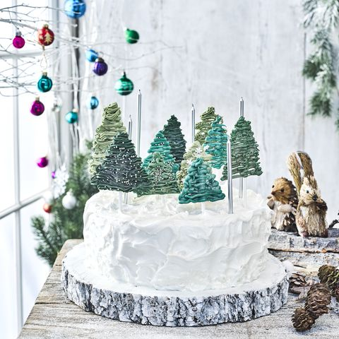 Magical Forest Christmas Cake Decoration
