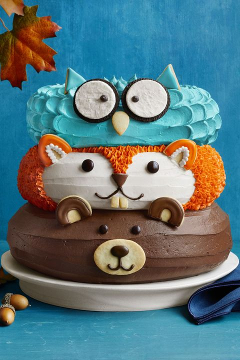 forest friends cake wdy 1118