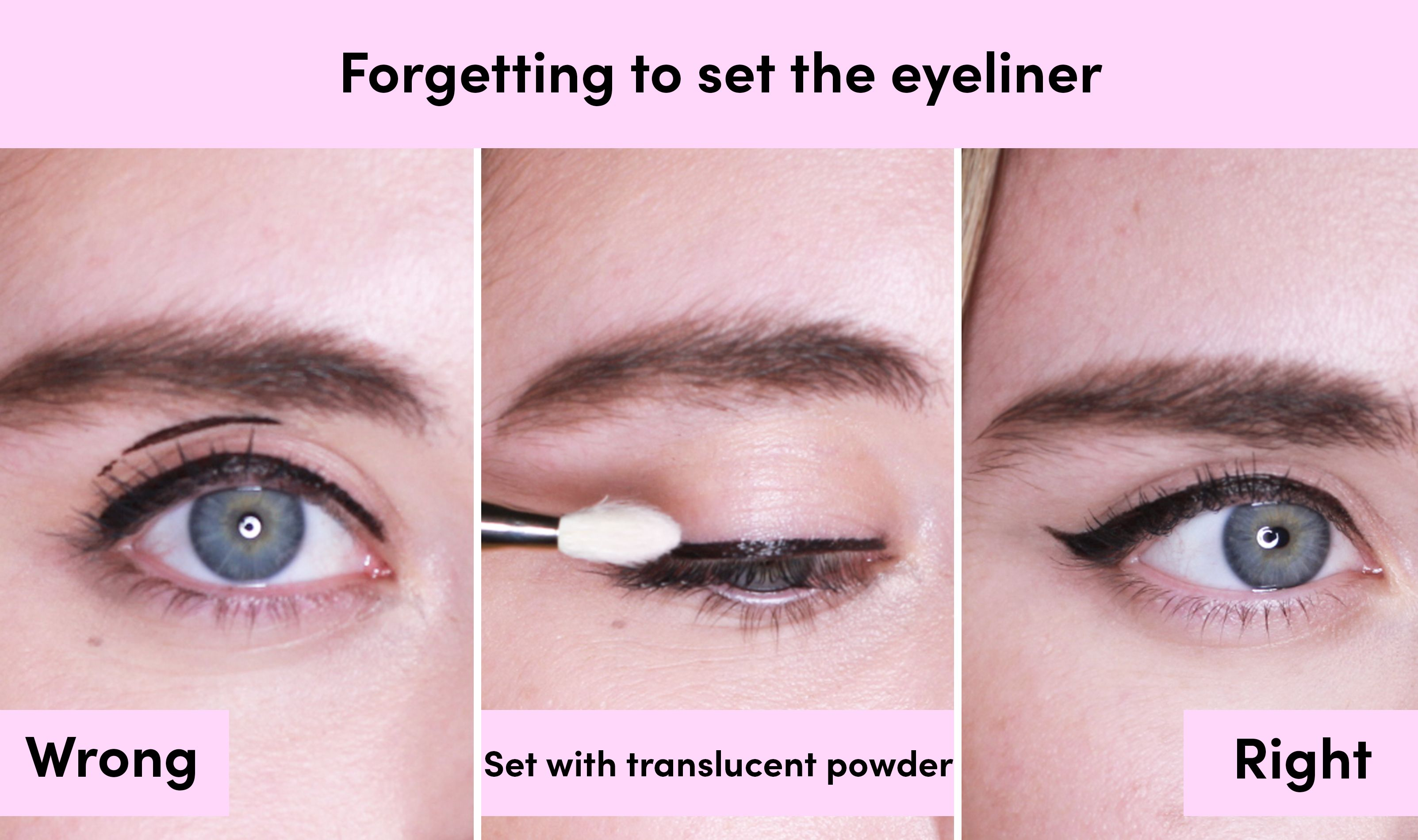 How to apply liquid eyeliner flick