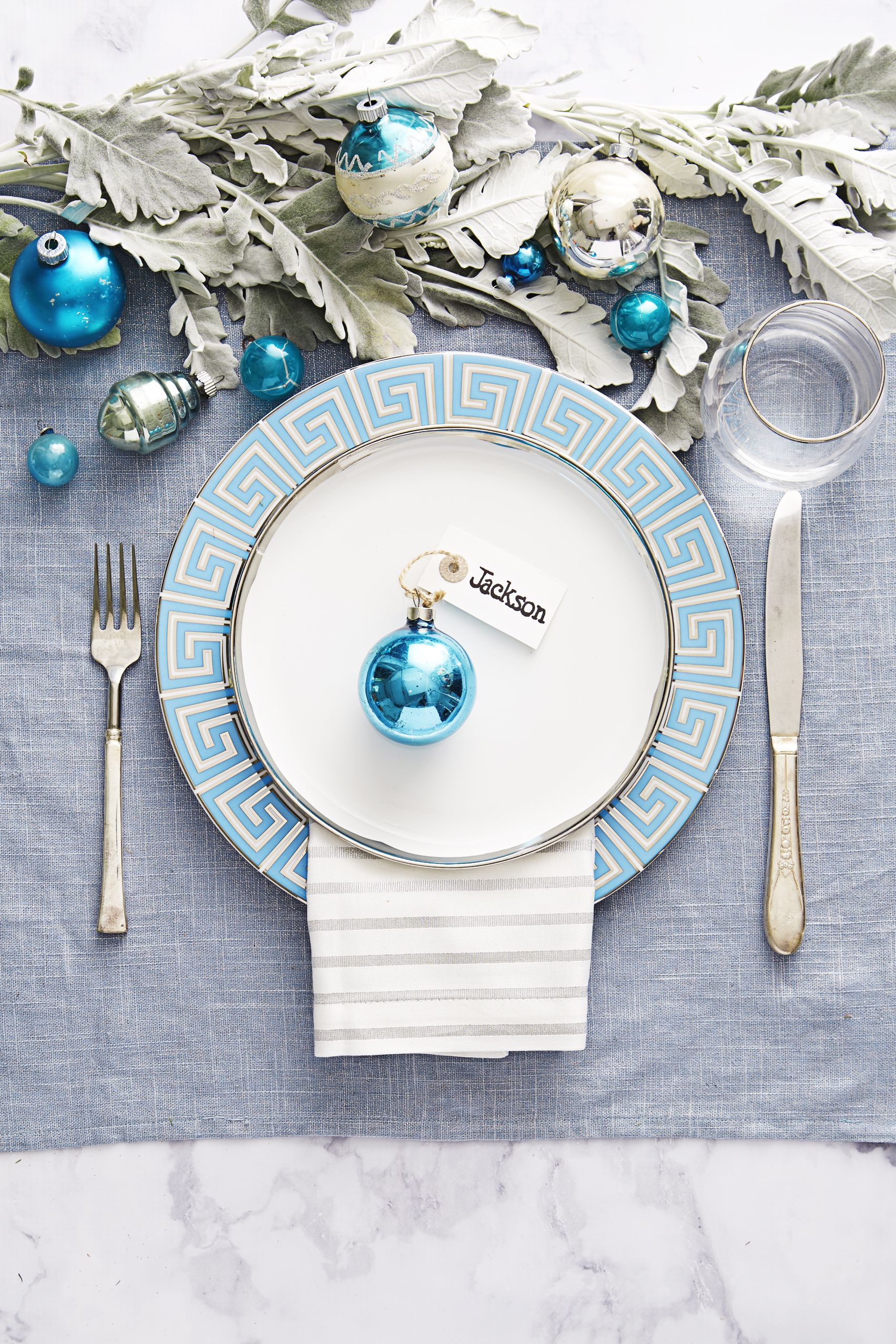 Christmas Decorations Blue And White
