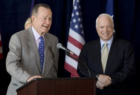 Former President George H.W. Bush Endorses McCain
