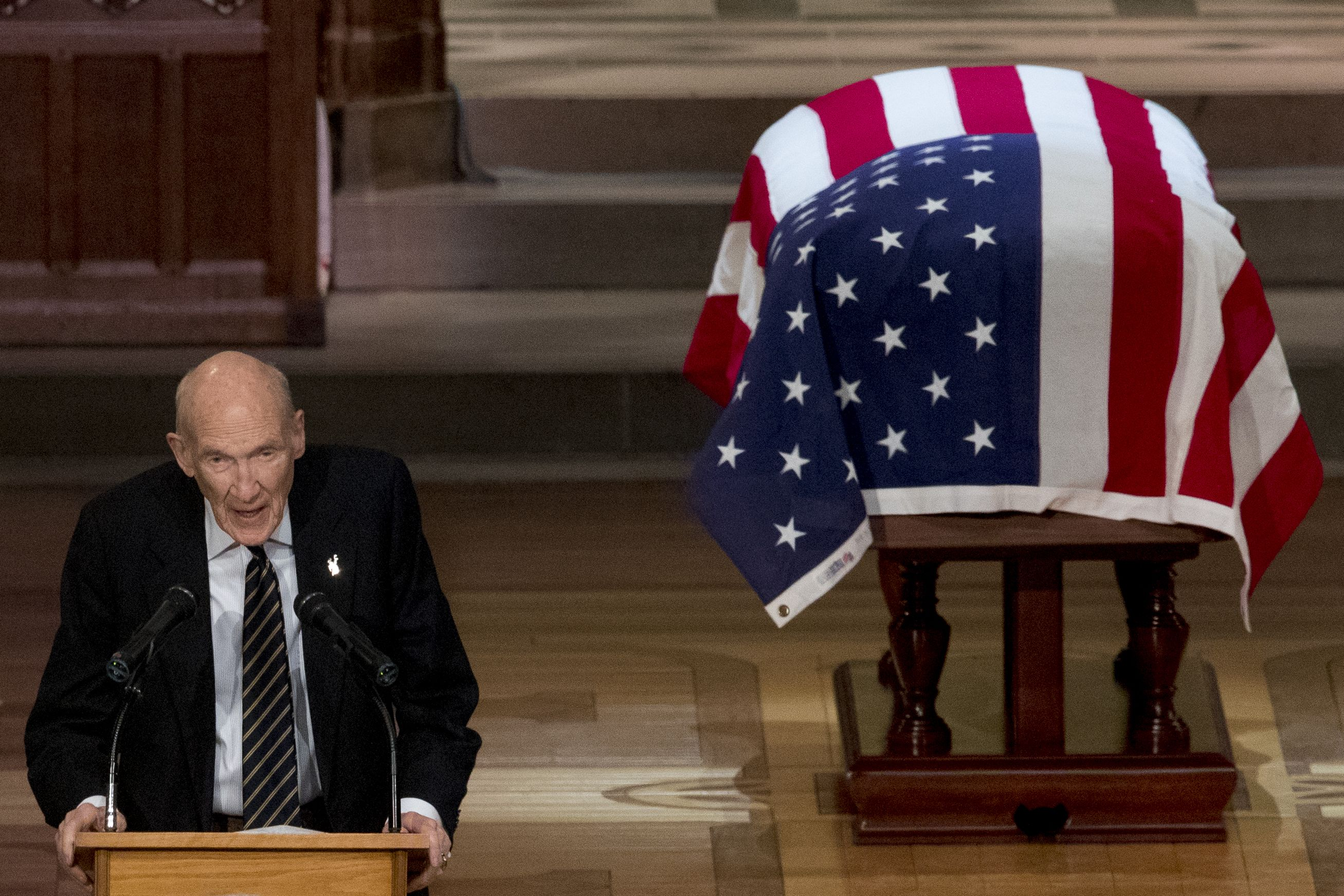 Alan Simpson's Full Eulogy at George H W  Bush's Funeral