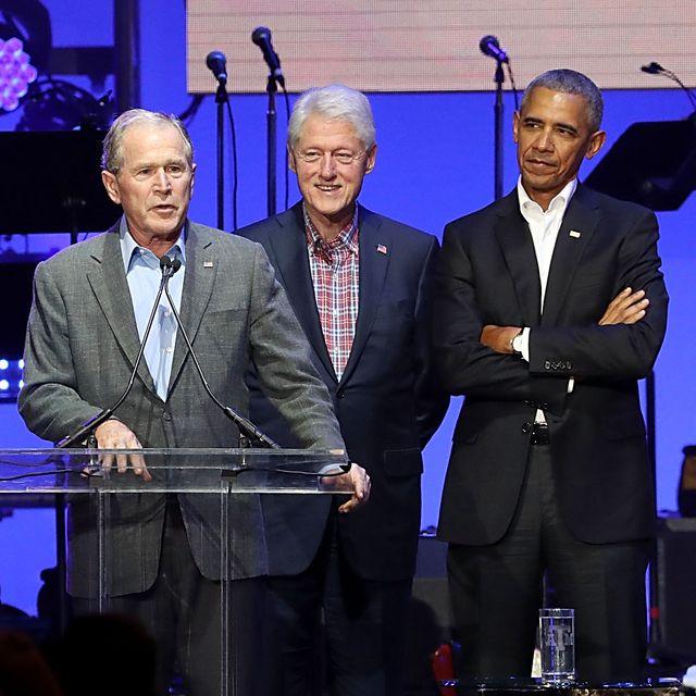 president obama bush clinton