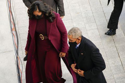 michelle obama arriving at joe biden's inauguration