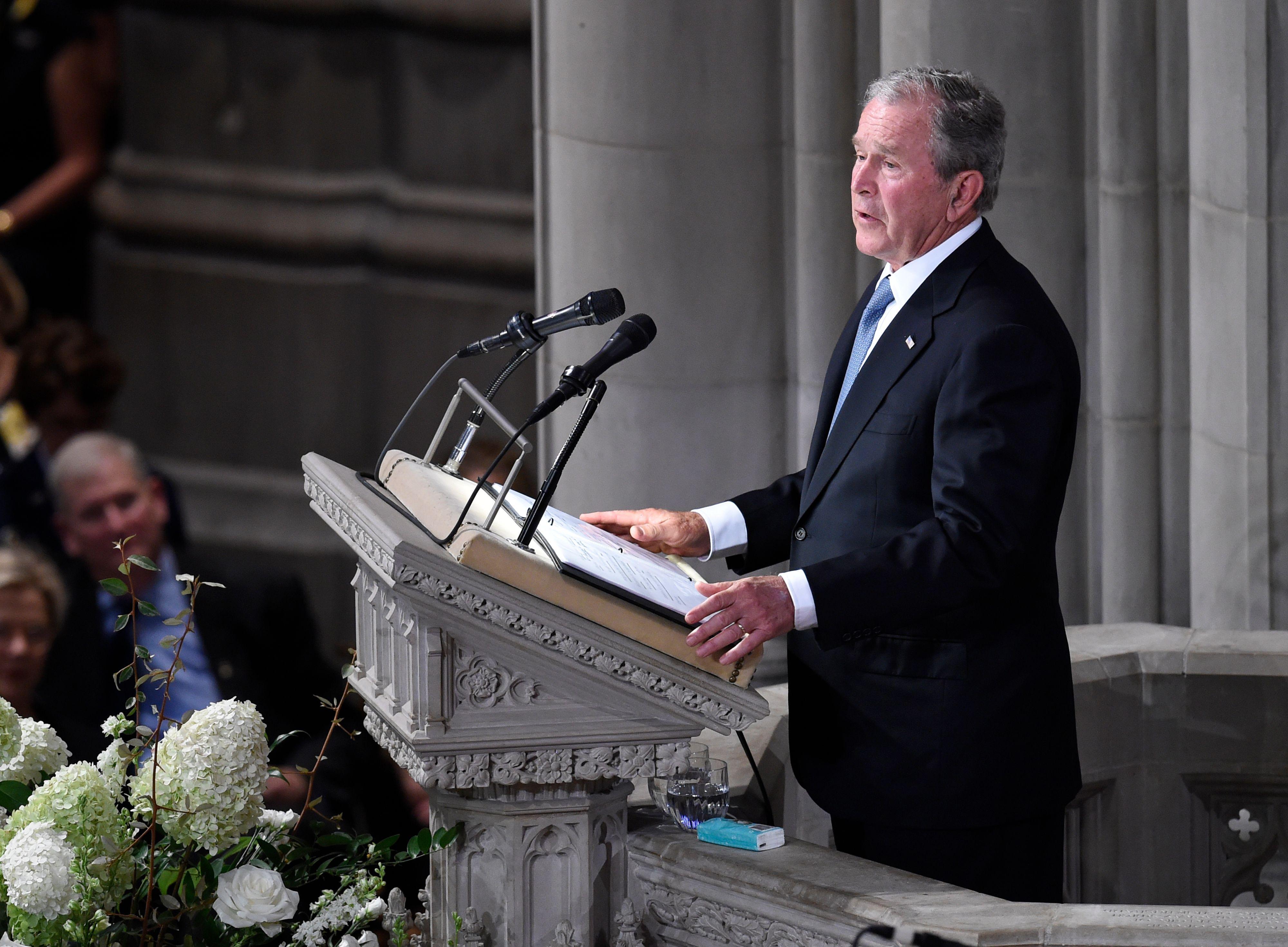 What George Bush And John Mccain Said >> George W Bush S Eulogy At John Mccain S Memorial Full Transcript
