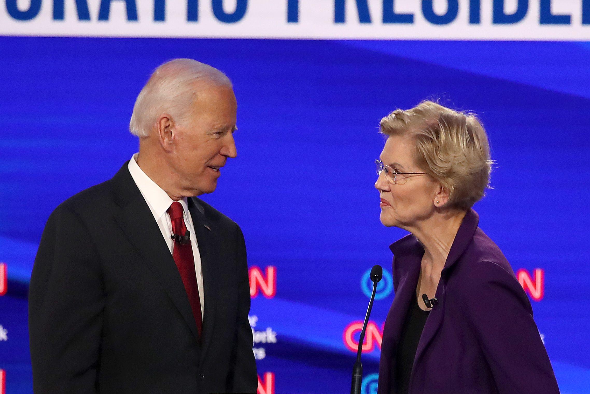 Joe Biden Tried to Take Credit for Elizabeth Warren's Work During the Debate