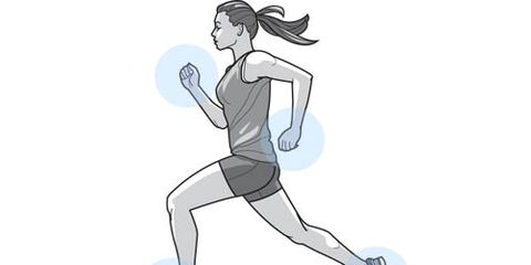 illustration of woman running with good form