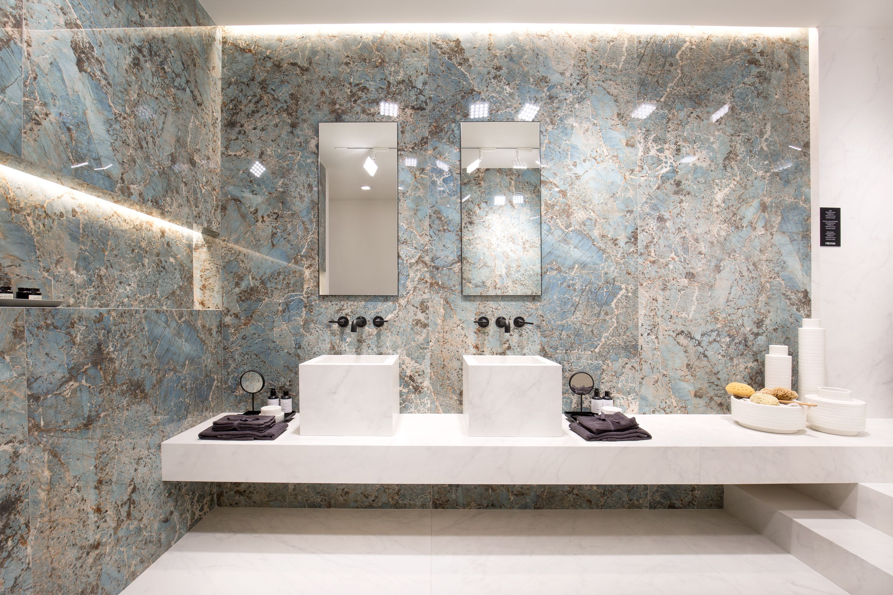 Atlas Marvel Calacatta Extra extra large tiles and surfaces for the bathroom and beyond