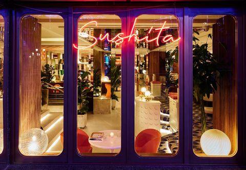 Sushita, el restaurante de comida fusión japonesa inspirado en el apartamento de Karl Lagerfeld en París