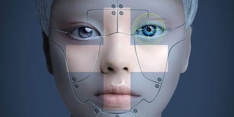 Face, Facial expression, Skin, Head, Eyebrow, Nose, Forehead, Cheek, Eye, Robot,