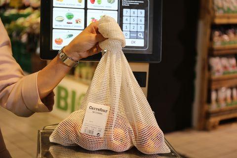 Malla de algodón de Carrefour.