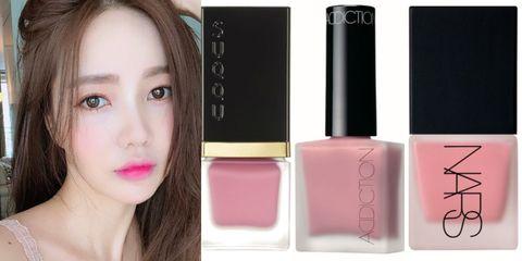Face, Cheek, Cosmetics, Pink, Skin, Lip, Product, Beauty, Nail polish, Eyebrow,