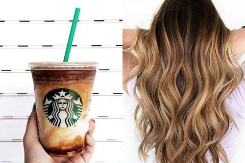拿鐵咖啡髮色