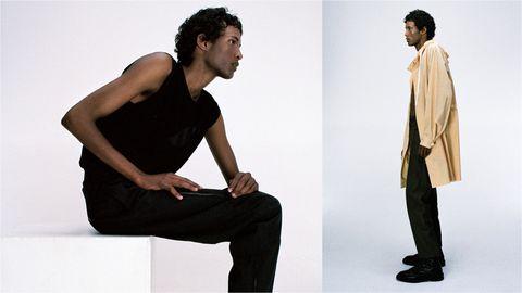Sitting, Shoulder, Standing, Fashion, Leg, Joint, Footwear, Photography, Fashion model, Fashion design,