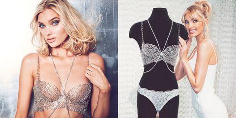 Clothing, Lingerie, Blond, Beauty, Model, Fashion model, Undergarment, Lace, Neck, Brassiere,