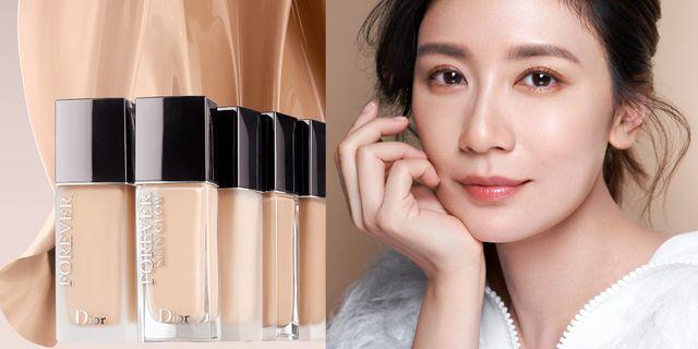 台灣首位的dior彩妝大使賈靜雯使用超完美持久粉底液