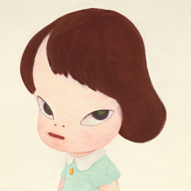 金卷芳俊,《人物隨想 01》。奈良美智,《溫室女孩》