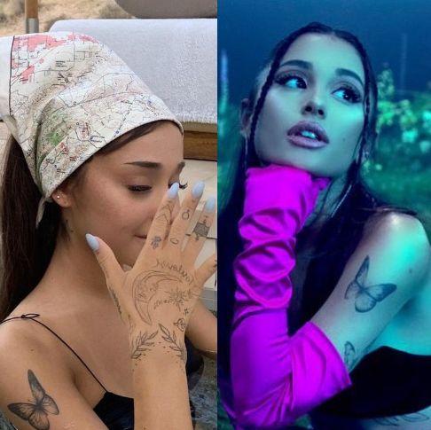 タトゥー好きで有名なアリアナ・グランデ。首や手、胴体に足まで、新しく追加されたり消されたり入れ替わったり、日本にゆかりの深いモチーフもあったり……と、その数は正確に把握しきれないほど。そこで、改めてここに、写真とともに彼女のタトゥーをまとめておさらい!