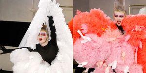 【紐約時裝週】時尚圈新寵兒Tomo Koizumi 2020春夏 整場秀只有一位模特兒!現場換裝上演彩虹版黑天鵝