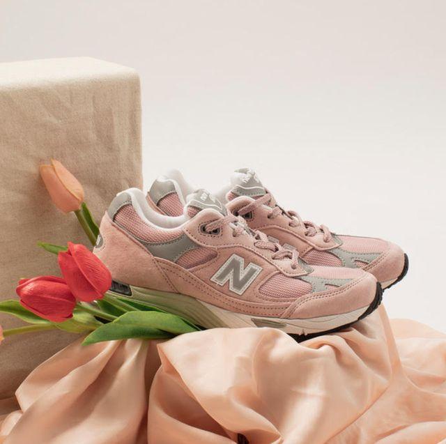 new balance 991玫瑰粉球鞋