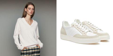 Footwear, White, Sneakers, Shoe, Product, Fashion, Plimsoll shoe, Beige, Design, Athletic shoe,