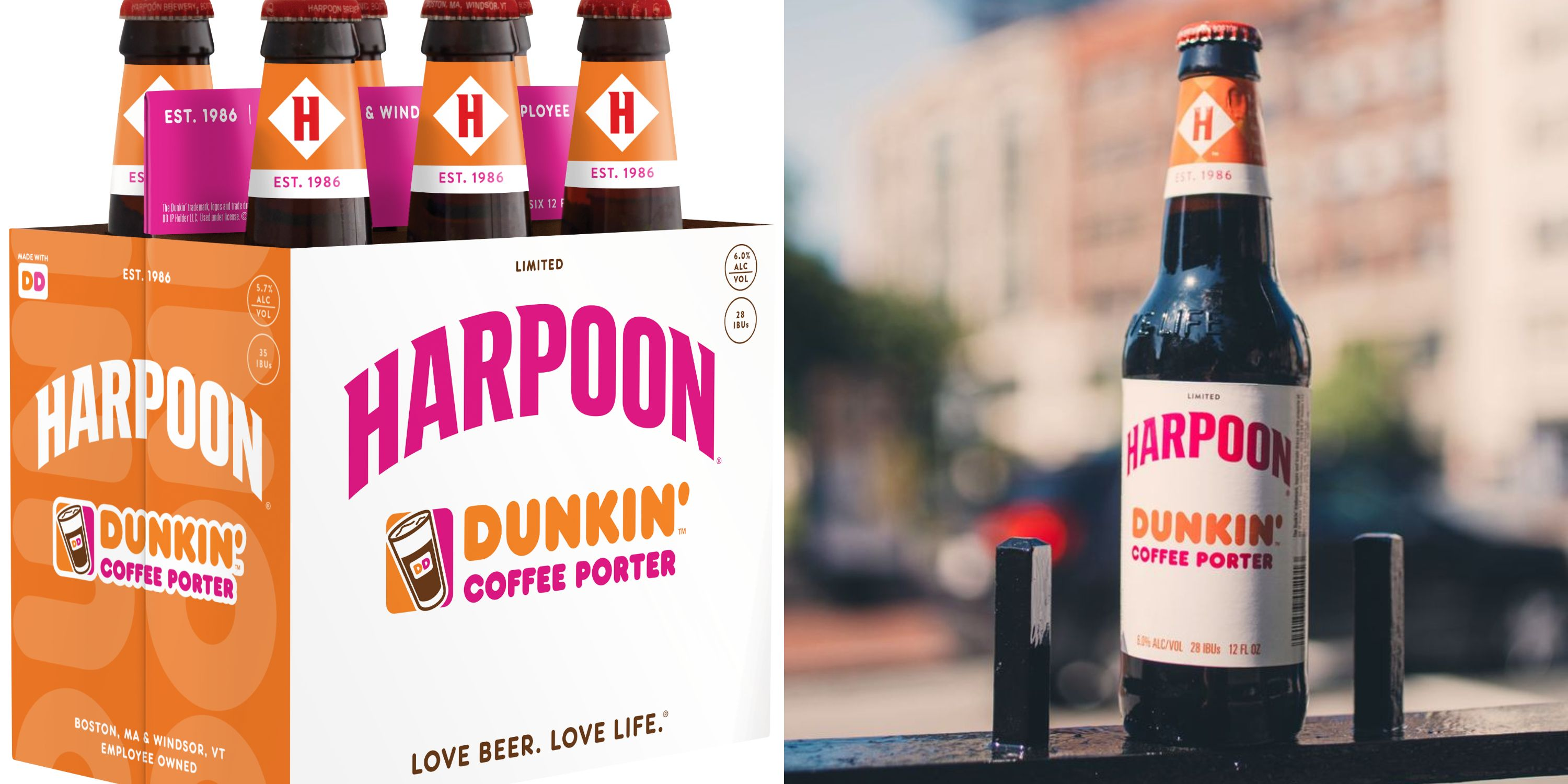 You Can Get Dunkin' And Harpoon's Coffee Porter Again For A Limited Time