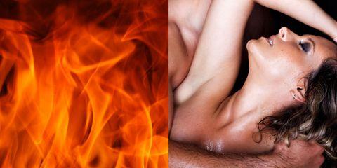 Flame, Heat, Fire, Orange, Muscle, Flesh, Neck,