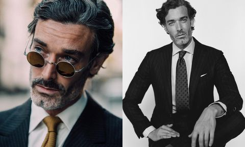 Hair, Suit, Eyewear, Facial hair, White-collar worker, Hairstyle, Beard, Chin, Moustache, Glasses,