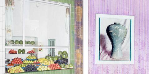 Wall, Room, Wallpaper, Organism, Door, Textile, Window, Interior design, Plant, Still life,
