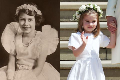 エリザベス女王&シャーロット王女
