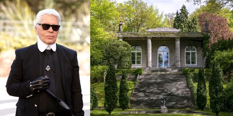 Photograph, Mansion, Formal wear, Estate, Tree, House, Architecture, Building,